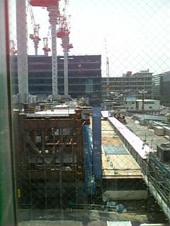 工事中の博多駅