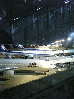 夜の福岡空港で