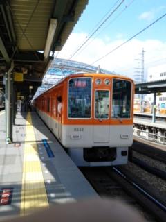 阪神電車で
