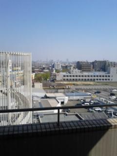 病室からの風景