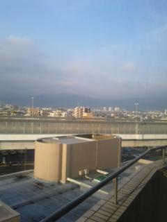 病室から西南の眺め