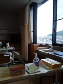 病室に入りました