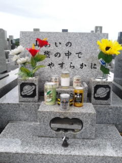 祖父母の墓に
