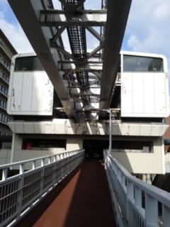 歩道橋から