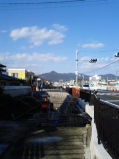 飯森山の方向です