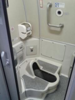 500系のトイレ