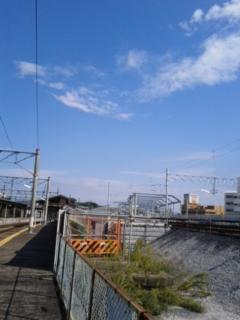 折尾駅のホームから