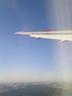 羽田から離陸しました