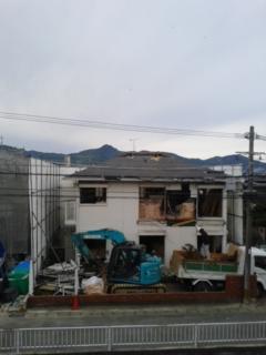家屋の解体が…