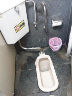 旦過市場のトイレ