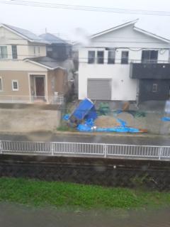 台風の影響下